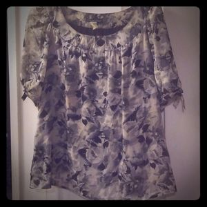 Women's top, patterned gray, 2X